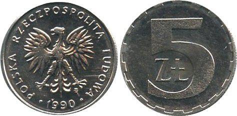 Pologne Y.81.3 5 Zloty, KM.Y81.3