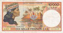 Polynésie Fr. 10000 Francs  Tahitienne - ND (2010) - P.4b - TTB Série A.002