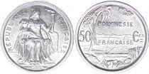 Polynésie Fr. 50 Centimes Liberté assise -  1965
