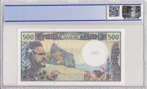 Polynésie Fr. 500 Francs Polynésien - Pirogue - Spécimen - PCGS 66 OPQ