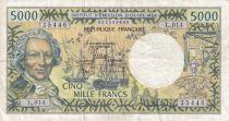 Polynésie Fr. 5000 Francs Bougainville - Trois-mâts - 2010  alph L.014 - TTB