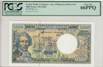 Polynésie Fr. 5000 Francs Bougainville - Trois-mâts - ND (1996) - PCGS 66PPQ