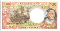 Polynésie Française 1000 Francs Tahitienne - Hibiscus - 2012 alph P.49