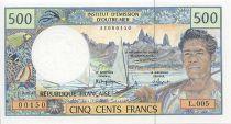 Polynésie Française 500 Francs Polynésien - Pirogue - 1995 alph L.5