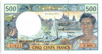 Polynésie Française 500 Francs Polynésien - Pirogue - 2002 alph F.9