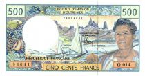 Polynésie Française 500 Francs Polynésien - Pirogue - 2010 alph Q.14