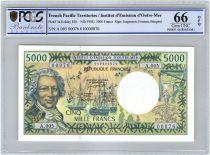 Polynésie Française 5000 Francs Bougainville - Trois-mâts - 1992 alph A.5 - PCGS UNC 66 OPQ