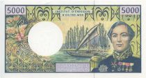 Polynésie Française 5000 Francs Bougainville - Trois-mâts - 1992 alph A.5