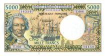 Polynésie Française 5000 Francs Bougainville - Trois-mâts - 2002 alph T.8