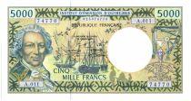 Polynésie Française 5000 Francs Bougainville - Trois-mâts - 2005 alph A.11
