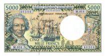 Polynésie Française 5000 Francs Bougainville - Trois-mâts - 2010 alph M.14