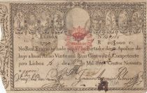 Portogallo 20000 Reis 1799 - Pedro IV - War of Two Brothers - 1826