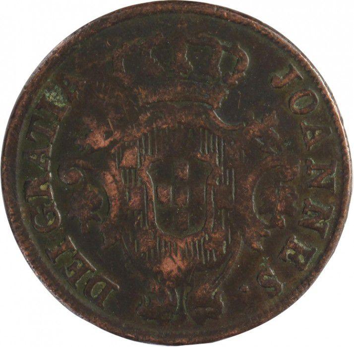Portugal 10 Reis Jean - Régence - Armoirie
