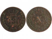 Portugal 10 Reis John - Regency - Arms