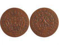 Portugal 10 Reis Joseph I - Armoiries
