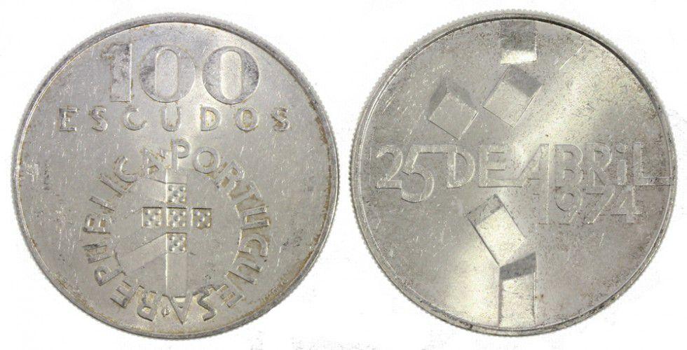 Portugal 100 Escudos Revolution 1974