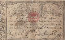 Portugal 10000 Reis 1798 - Miguel I - Guerre des 2 Frères - 1828