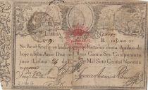 Portugal 10000 Reis 1798 - Pedro IV - Guerre des 2 Frères - 1826