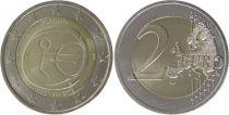Portugal 2 Euro 10 ans de l\'UEM  - 2009
