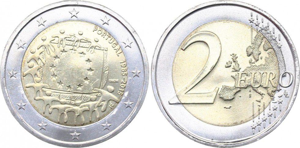 Portugal 2 Euro 30 ans du Drapeau Européen - 2015