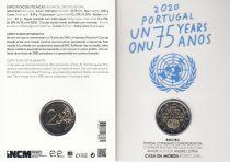 Portugal 2 Euro 75 years of UN - COINCARD  2020