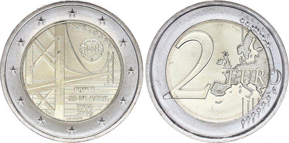 Portugal 2 Euro Pont du 25 avril - 2016