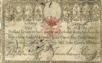 Portugal 20000 Reis 1799 - Miguel I - Guerre des 2 Frères - 1828 - TB