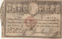 Portugal 20000 Reis 1799 - Miguel I - War of Two Brothers - 1828