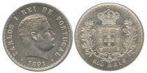 Portugal 500 Reis Carlos 1er - Armoiries