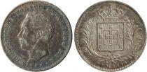 Portugal 500 Reis Louis 1er (1861-1889) - Armoiries