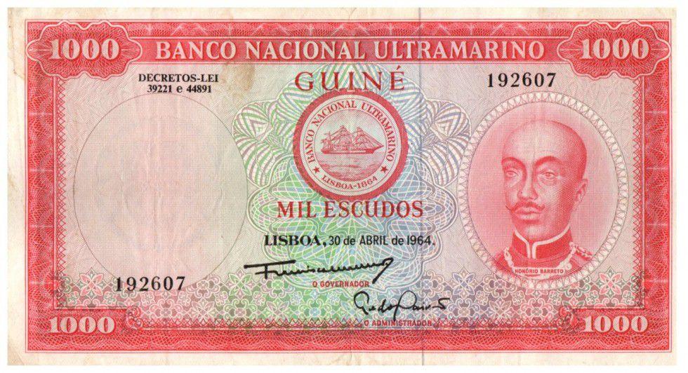 Portuguese Guinea 1000 Escudos Honorio Barreto