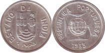 Portuguese India 1 Rupia Arms