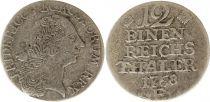 Prusse 1/12 Thaler Friedrich II - Armoiries - 1768E