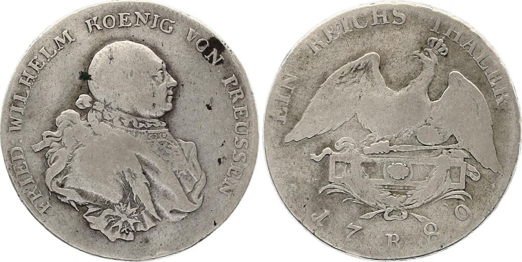 Prusse 1 Thaler Friedrich II - Armoiries - 1789