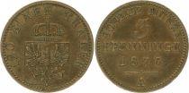 Prusse 3 Pfennig Guillaume I - 1870 A