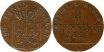 Prusse 4 Pfenninge Frédérique - Guillaume III - 1827 A