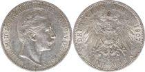 Prusse 5 Mark Wilhelm II - Armoiries - 1907 A