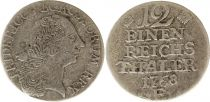 Prussia 1/12 Thaler Friedrich II - Armoiries - 1768E
