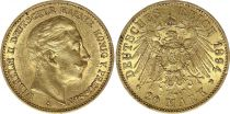 Prussia 20 Mark Wilhelm II - Imperial Eagle 1894 A Berlin - Gold