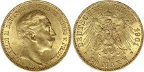 Prussia 20 Mark Wilhelm II - Imperial Eagle 1901 A Berlin - Gold