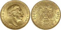 Prussia 20 Mark Wilhelm II - Imperial Eagle 1901 A Berlin - Gold