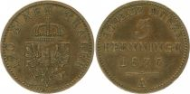 Prussia 3 Pfennig Wilhelm I - 1870 A