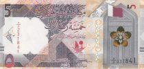 Qatar 5 Riyals  Horses, calmel - Polymer 2020 - UNC