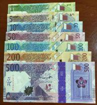 Qatar Série 1 à 500 Riyals - 2020 - Nouvelle série Polymer - 7 billets