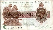 Regno Unito 1 Pound King George V and St George - 1922 - K1 100