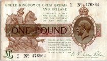 Regno Unito 1 Pound King George V and St George - 1922 - K1 12
