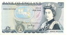 Regno Unito 5 Pounds Elisabeth II - Duke of Wellington
