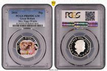 Regno Unito 50 Pence 2016  - M Tiggy Winkle - PCGS PR 69