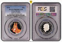 Regno Unito 50 Pence 2016  - Squirrel Nutkin - PCGS PR 69