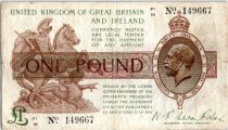 Reino Unido 1 Pound King George V and St George - 1922 - P1 16